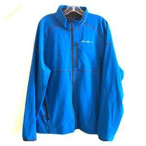 Eddie Bauer Blue Men's Soft Shell Zip Jacket